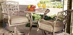 Model A54875 Aluminum Dining Set 3 Piece Bistro Set